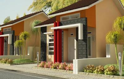 contoh warna cat dinding luar rumah yang cerah