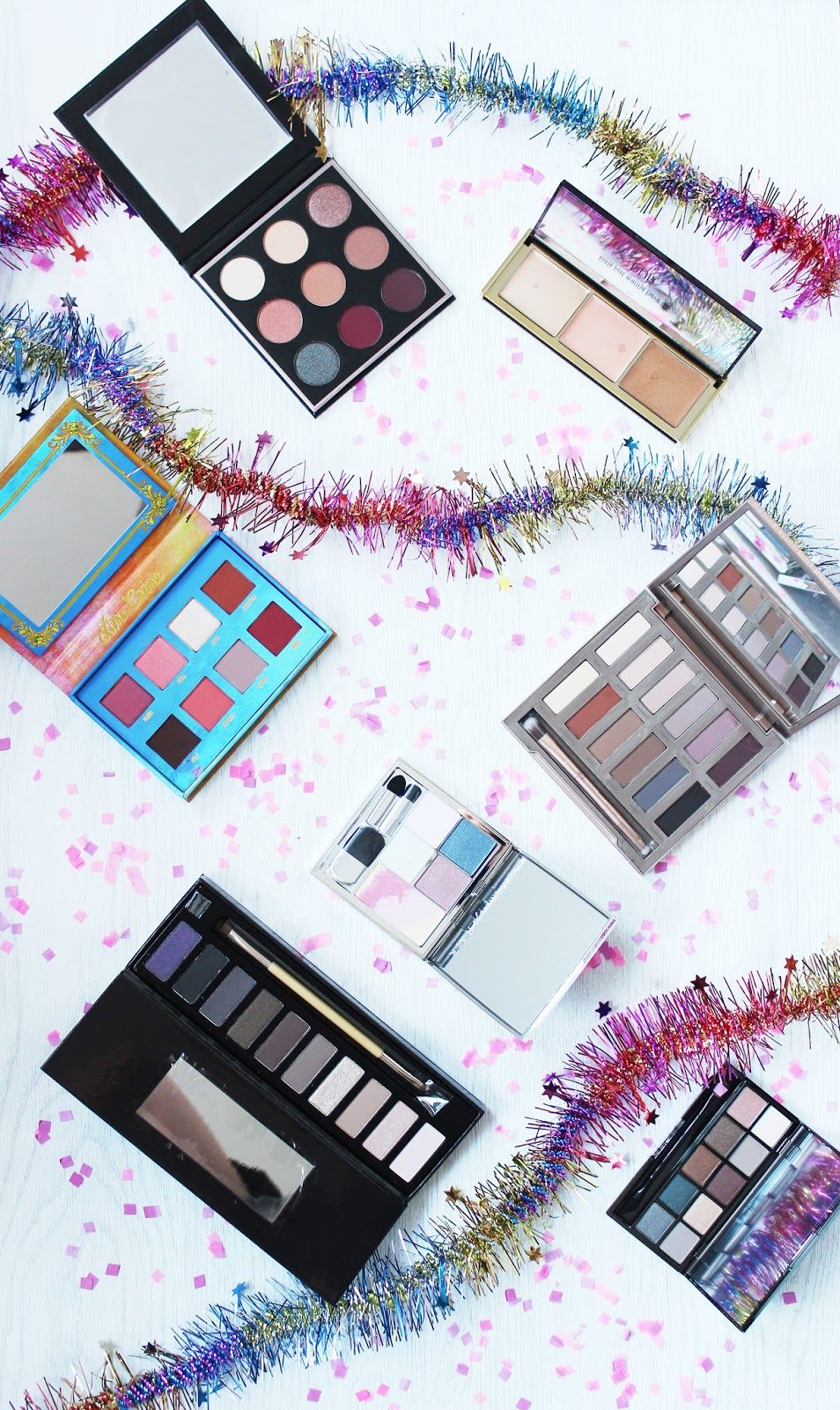 7 must have christmas palettes from Clarins, Autograph, Lime Crime, Manny MUA, Makeup Geek, Urban Decay, Pur