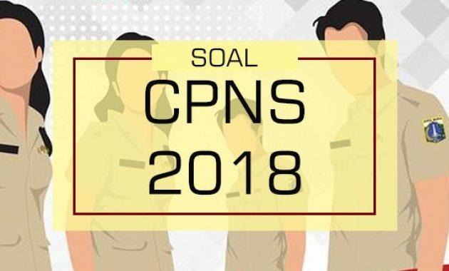 Info Soal Lowongan Penerimaan CPNS 2018
