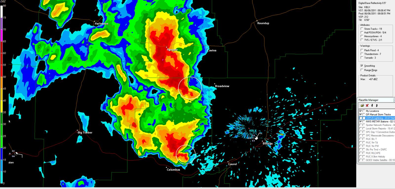 The Original Weather Blog: Hook Echoes on Radar in Montana