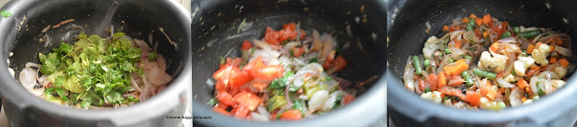 Step 2 -Kodo Millet Vegetable Biryani Recipe