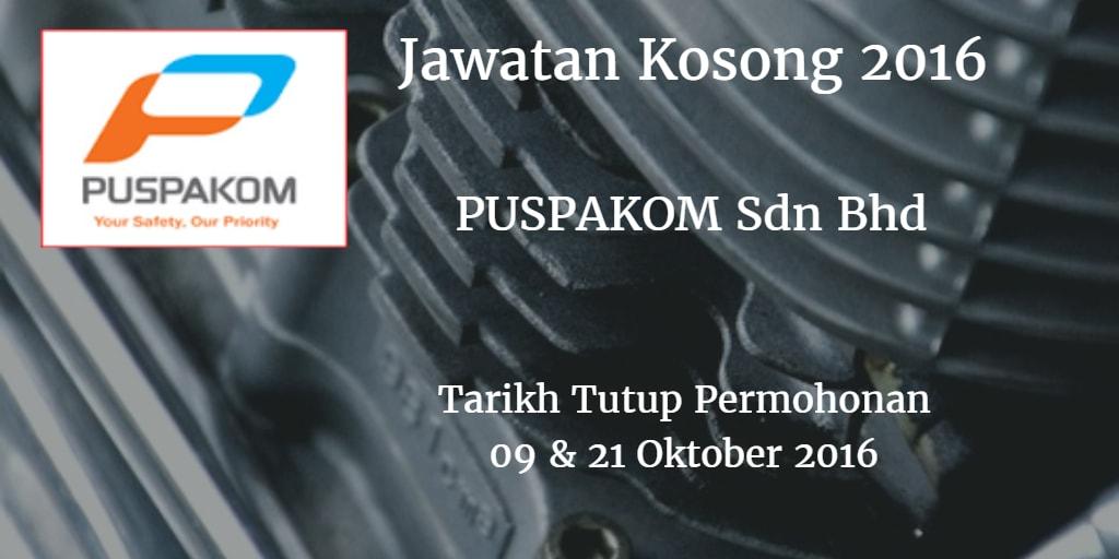 Jawatan Kosong PUSPAKOM Sdn Bhd 09 & 21 Oktober 2016