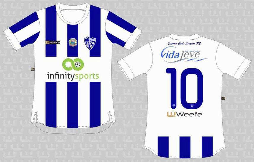 025b7f27077bf Weefe apresenta as novas camisas do Cruzeiro de Porto Alegre - Show ...