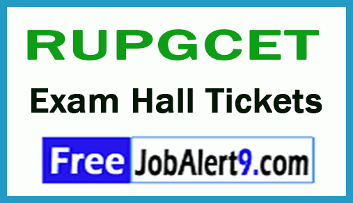 Rayalaseema University RUPGCET Exam Hall Tickets Download