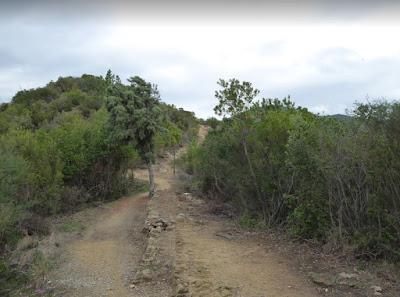 sentiero verso Punta Baffe