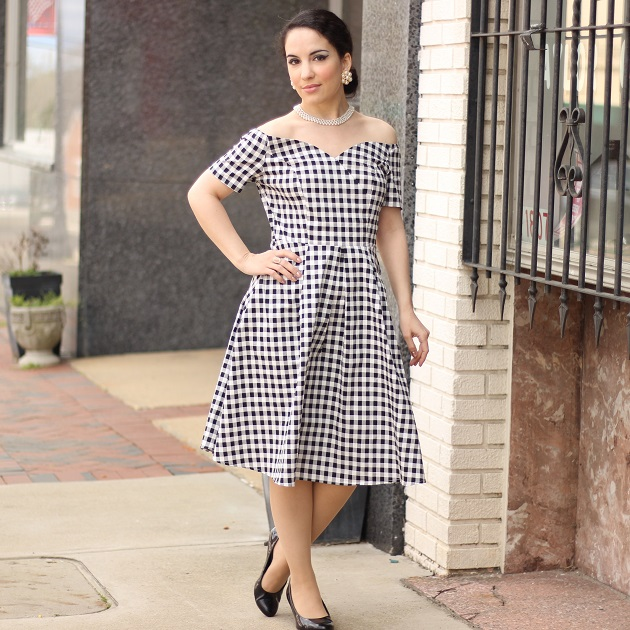 Shein Black and White Gingham Dress