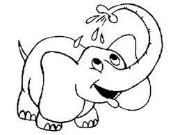 Elephant Bathing Coloring Pages Latest