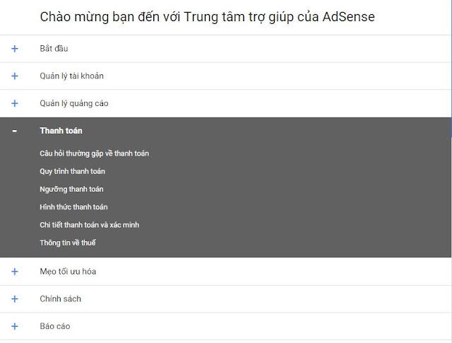 Chính sách của Google Adsense