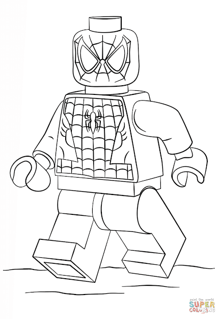 Lego Spiderman Coloring Page
