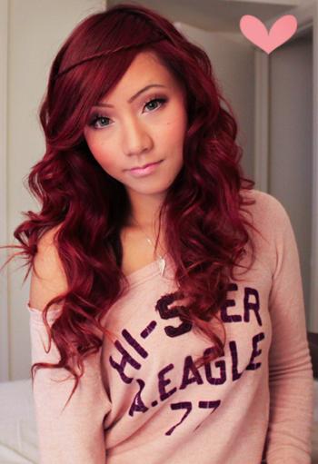Red Hair?! Oh yes.. ♥ Garnier Color in Light Auburn for Dark Hair ...