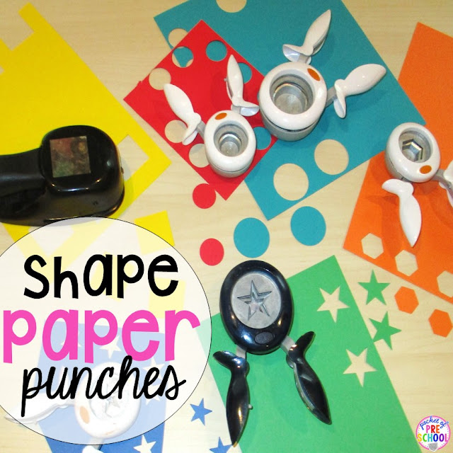 Collect shape paper punches so that you never have to cut tiny shapes again–you'll save yourself a ton of time.