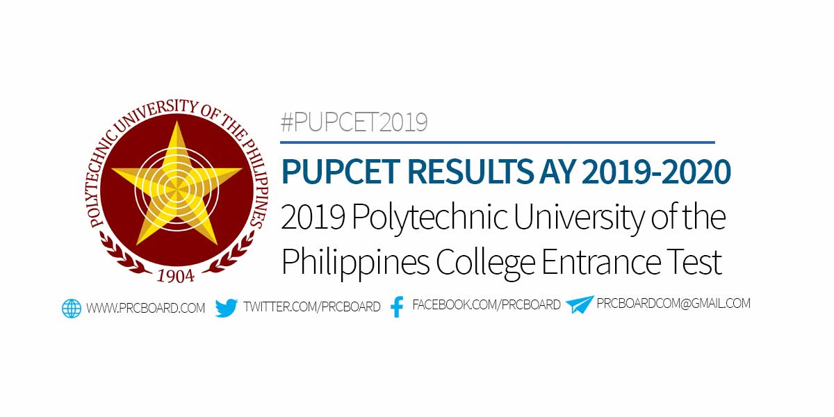 PUPCET RESULTS 2019 – PUP College Entrance Test List of