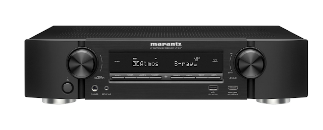Marantz NR16077.2-channel slimline home theater receiver with Wi-Fi®, Bluetooth®, Apple® AirPlay®, and Dolby Atmos®