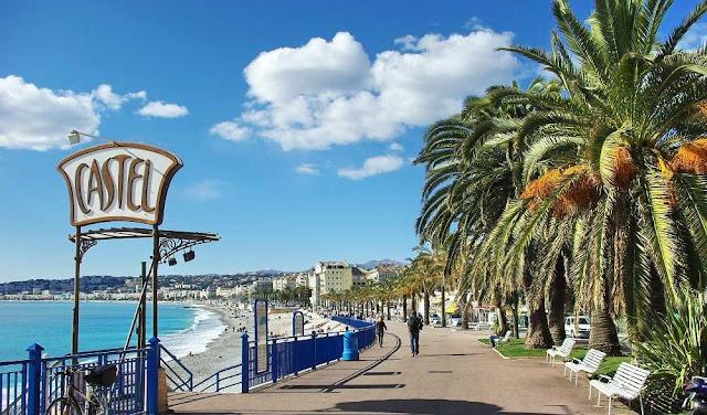 Praia Castel Plage em Nice