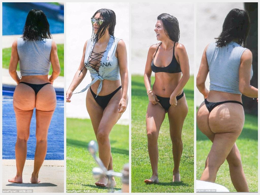 Kim kourtney kardashian bikini something