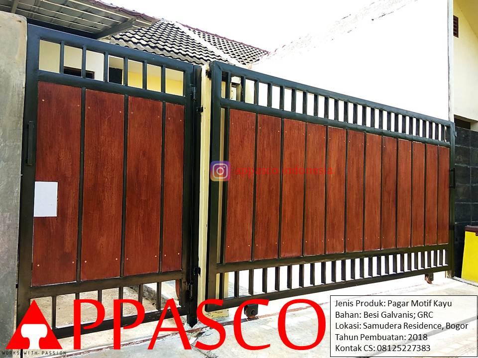 Pagar Motif Kayu GRC di Samudra Residence Bogor