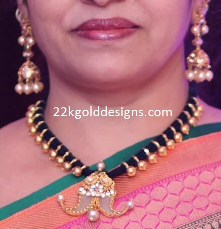 Puligoru Necklace Designs for Women with Black Dori