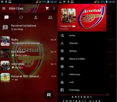 BBM Mod Arsenal 2.13.1.14 Apk