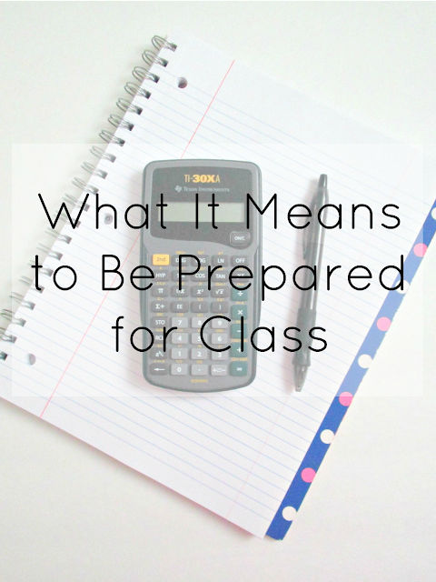 What It Means to Be Prepared for Class