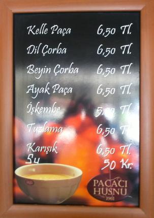 ünlü çorbacı meşhur paçacı hüsnü fiyat tarifesi