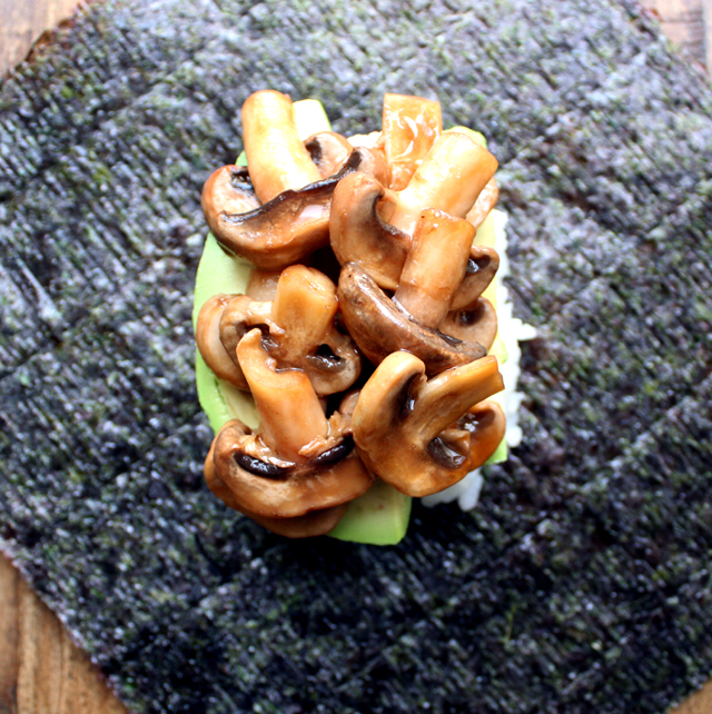 Oppskrift Sandwich-Sushi Sushiburger Onigirazu Vegansk Sushi