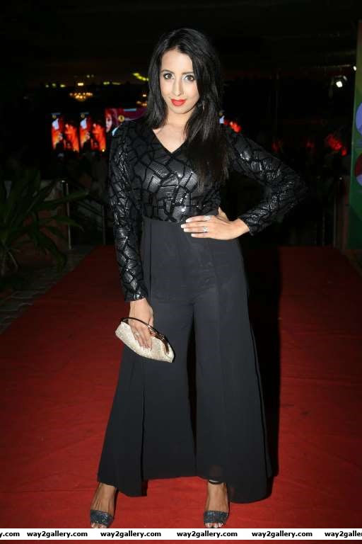Sanjjanaa was present at the audio launch of Telugu film Happy Birthday