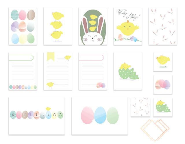 Wielkanocne karty do Project Life