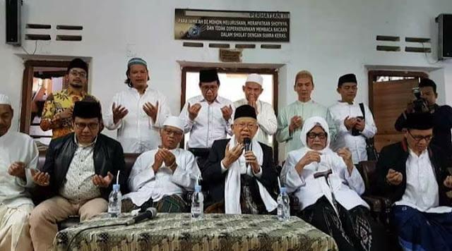 Kiai Ma'ruf Kunjungi Pesantren Lirboyo Untuk Memohon Doa Restu