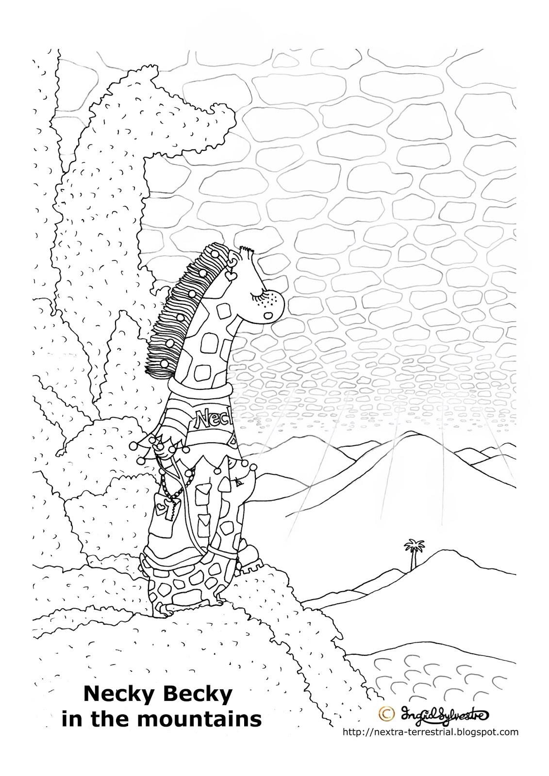 Nextra Terrestrial Giraffe Pictures To Colour