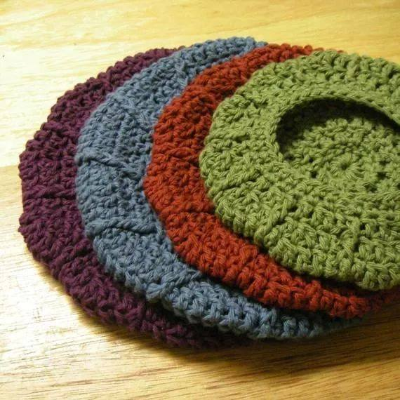 Patrón #820: Boina a crochet