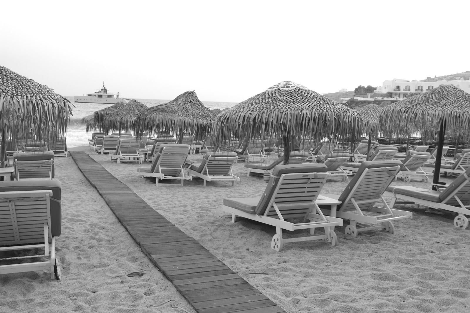 Platys Gialos Beach Sunbeds & Umbrellas