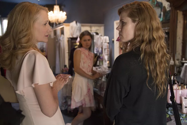 Image from Sharp Objects featuring Amy Adams, Patricia Clarkson & Eliza Scanlen in the HBO series based on the book by Gillian Flynn