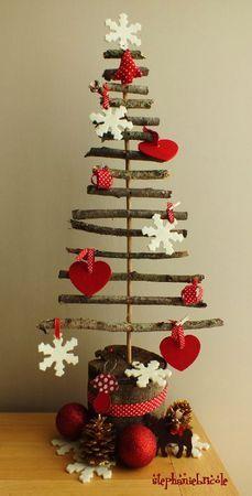 Imagenes fantasia y color has tu propio arbol de navidad con troncos de madera - Adornos navidenos sencillos ...