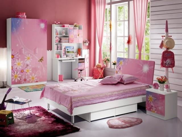 dormitorio de niña color rosa