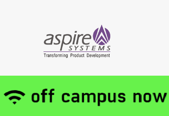 Aspire Systems Off Campus For Freshers with Bsc/ B.com/ BA Stream