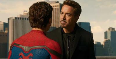 robert downey jr tony stark mentor peter parker spiderman homecoming poster wallpaper screensaver image picture