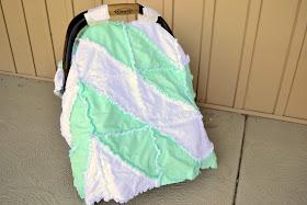 Free Chevron Rag Quilt Car Seat Tent Pattern