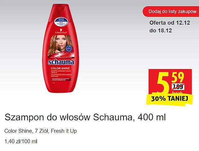 Szampon do włosów Schauma, Biedronka, promocje
