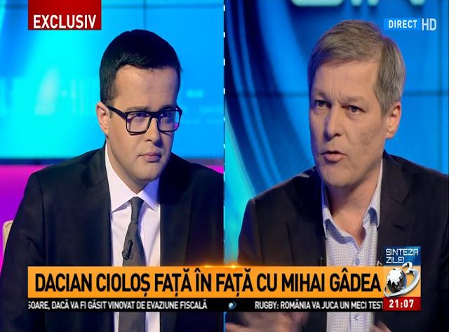 Dacian Ciolos la Antena 3 Mihai Gadea