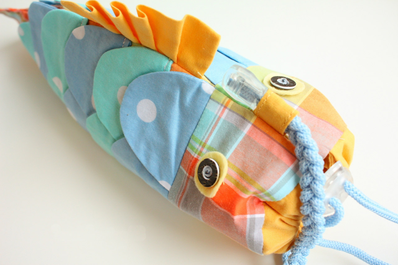 Cute Fish Handbag for Kids. DIY Tutorial in Pictures.