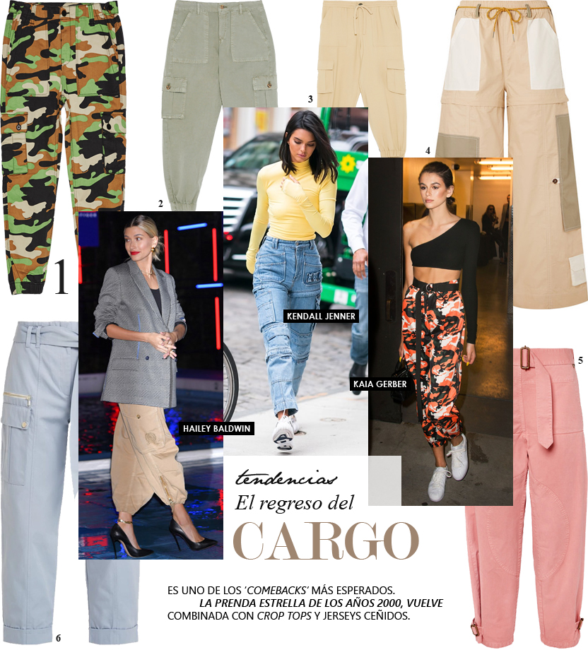 Los pantalones cargo vuelven como prenda estrella