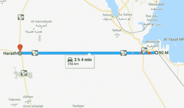 SAUDI ARABIA'S HIGHWAY 10 IS 256 KM LONG STRAIGHT ROAD