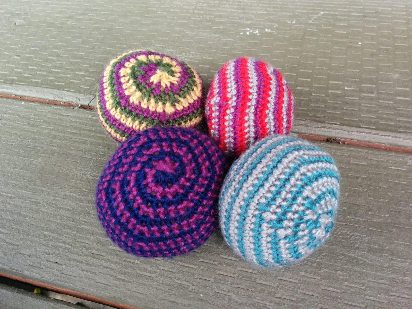 Ladybug Laboratory Hacky Sack Crochet Spiral