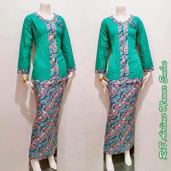Model Baju Batik Modern Untuk Kerja Wanita: Model Baju Batik Setelan Wanita Terbaru
