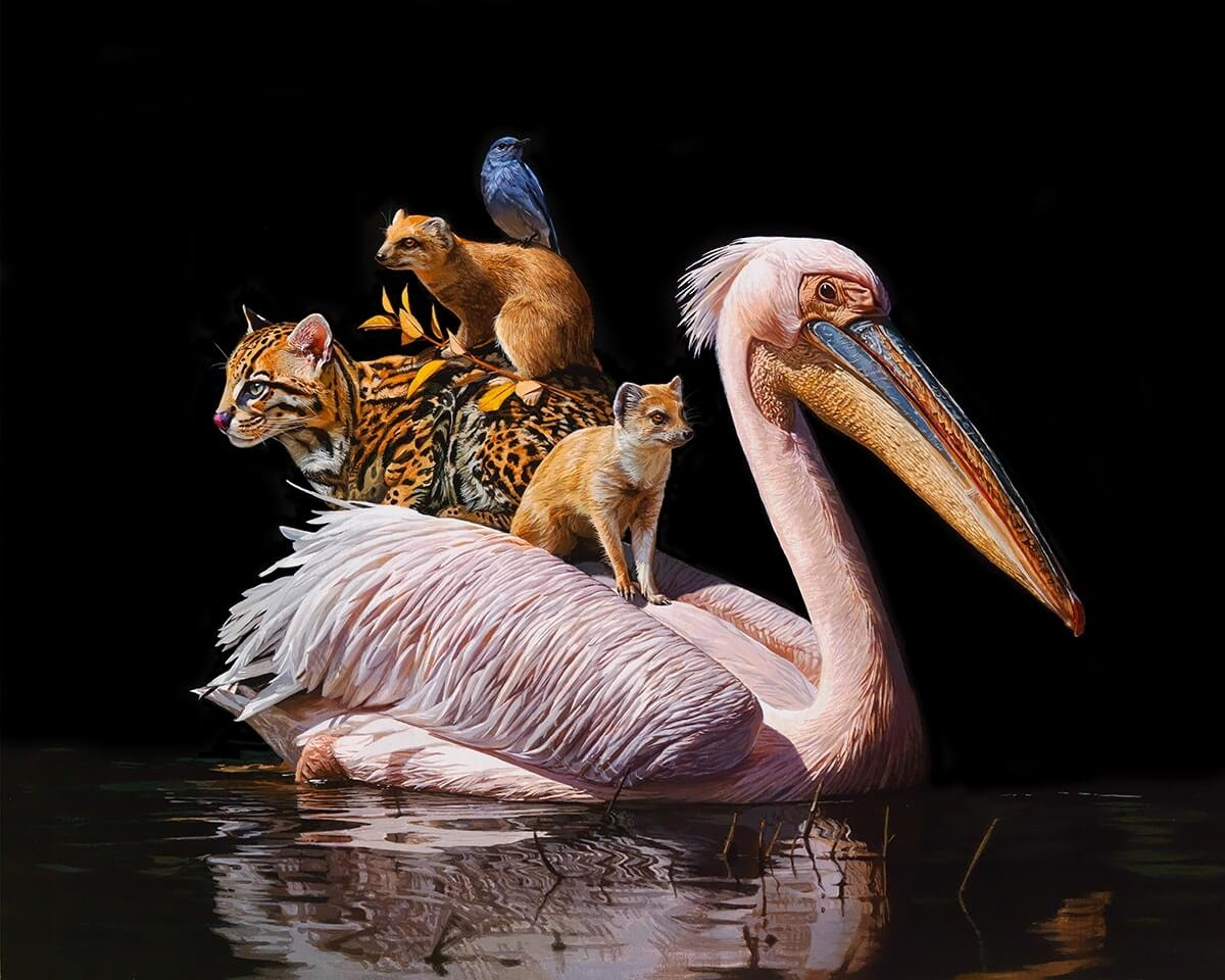 10-Uneasy-Truce-Lisa-Ericson-Animals-Interspecies-Friendships-Paintings-www-designstack-co