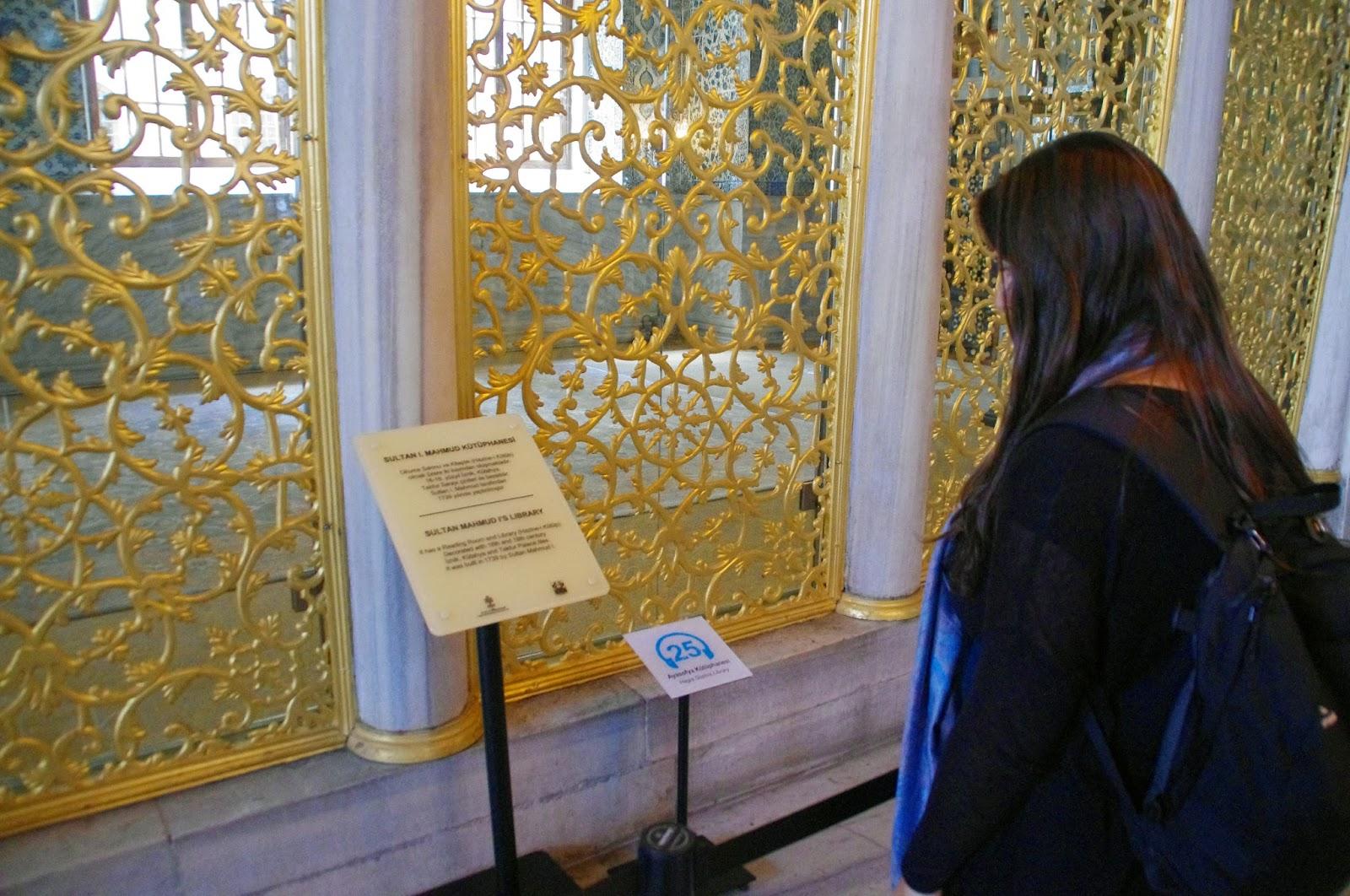 Girl in Hagia Sophia Istanbul
