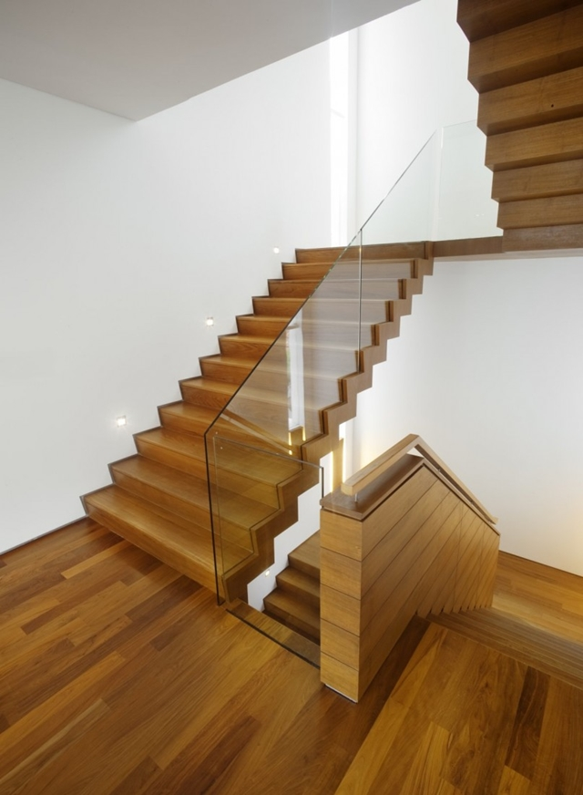 Picture of wooden staircase to the upper floors