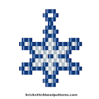 Christmas brick stitch seed bead weaving pattern