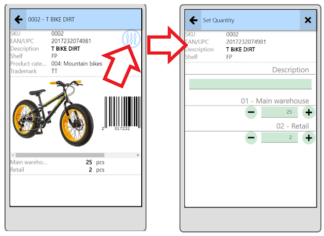 Inventory Barcode Mobile application