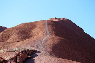 the starting point of a trail up Uluru